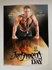 "WWF WWE Poster Print John Cena Judgment  Day I Quit Match 2005 5/22/05 12"" x 16"""