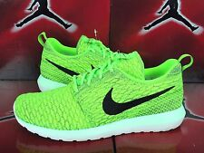 Nike Flyknit Roshe Run RosheRun Vollt Electric Green Dark Grey 677243-700 Multi