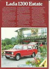 LADA 1200 ESTATE 'SALES BROCHURE'/SHEET 1978 1979