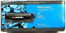 HP 12A Printer Toner Q2612A Cartridge Office Depot Remanufactured SEALED