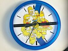 The Simpsons 30th Anniversary WallClock BLUE Very Rare Look!