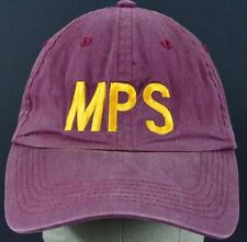 Red Maroon MPS embroidered baseball hat cap adjustable strap