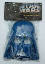 RARE STAR WARS POWER OF THE FORCE DARTH VADER MEXICAN CHILDREN MASK BLUE COLOR