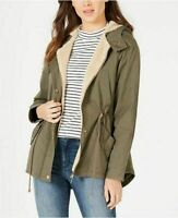 NEW Collection-B Women's Faux-Fur Lined Hooded Parka Jacket Coat Green SIZE S