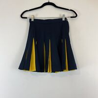 Vintage Cheerleader Supply Co. Navy Blue And Yellow Cheer Skirt Size 7 XS