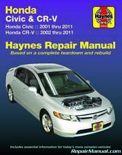 51-56 Reg Haynes Workshop Manual Honda CR-V 2002-2006 Service /& Repair