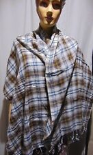 Light weight long grey white  color check  viscose jacquard Scarves, Scarfs