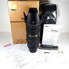 Nikon AF-S Nikkor 70-200 mm 2.8 G ED VR II N, comme neuf.