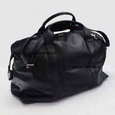 Black Leather Bag, Weekender Overnight Bag, Genuine Leather Handbag