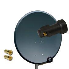 PremiumX 80cm Spiegel Sat Antenne Schüssel HDTV Empfang Single LNB 0,1dB FULLHD
