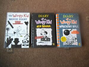 DIARY OF A WIMPY KID 3 x HB Book JEFF KINNEY VGC WRECKING BALL, MOVIE, OLD SCHOO