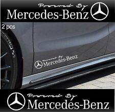 2pcs Powered by MERCEDES BENZ Stickers AMG Decals WHITE