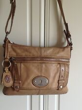 Fossil Maddox Bag In Tan Leather