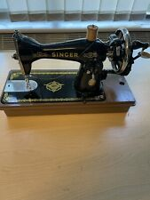 Vintage Singer Sewing Machine 15 Hand Cranked With Plastic Casing