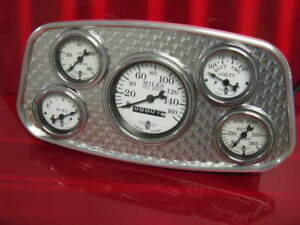 1934 Ford style gauge panel with engine turned insert