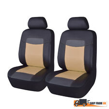 PU Leather Universal Front Car Seat Covers Black Beige Auto Seat Covers From UK