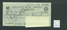 wbc. - CHEQUE - CH718 -  USED -1971 - BARCLAYS, GOLDERS GREEN, LONDON NW11