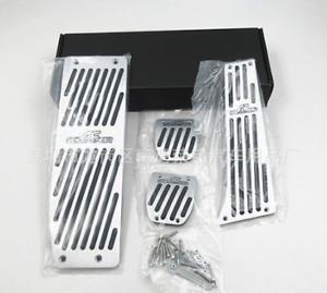 4pcs Metal AC Schnitzer Logo Pedal Pad Set Brake Clutch Accelerator Gas