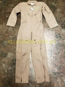 US Military WOMAN'S Flight Suit Coveralls Tan CWU-27P USAF Ghostbusters NWT
