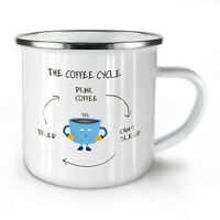 Coffee Cycle NEW Enamel Tea Mug 10 oz | Wellcoda