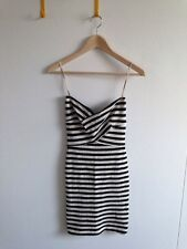 L'AGENCE Stripe Bandeau Bandage Exposed Back Zipper Mini Dress XS NWT $320 lna