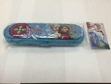 Disney Frozen Blue Tin Pencil Case Bag Olaf Anna Elsa with Zipper