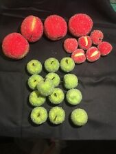 Vtg Sugared Fruit 23 Pc Apple Peach  Frosted Beaded
