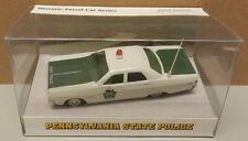 PA PENNSYLVANIA STATE POLICE PATROL PLYMOUTH FURY WHITE ROSE 1/43 1969 MATCHBOX