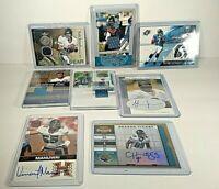 Jacksonville Jaguars 8 card game used/autographed lot, Brunell,Taylor,Leftwich