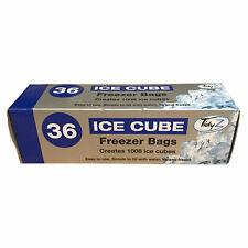 TidyZ 36 Ice Cube Freezer Bags Easy to Use Plastic 1008 Ice Cubes 17.5 x 35 cm