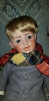 Antique LAUGHING GEBRUDER HEUBACH 5636 BISQUE HEAD DOLL COMPOSITION BODY 16""