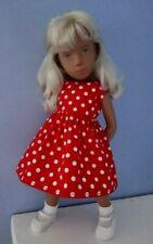 BJB Vintage Sasha doll clothes, Pretty red and white spotty dress