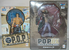 Megahouse One Piece POP DX Mihawk & Portgas D Ace figures lot NEW-NO BOOTLEGS!