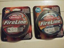 New 14lb Berkley Fireline 1 Crystal & 1 smoke Braided Fishing Line 125yd Spool