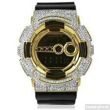 Gold Iced Out Custom G-Shock GD-100 Mens Hip Hop Watch