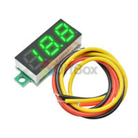 "10x 0.28"" Green LED DC0-100V Voltmeter 3 Wire Digital Display Voltage Volt Meter"