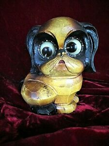 RARE 1926 BLACK FOREST ROLLING EYE DOG CLOCK BY ROLLING EYE DOG CLOCK BY OSWALD