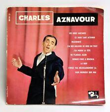 """CHARLES AZNAVOUR / LES DEUX GUITARES ... / 1963 FRANCE 33T 12"""" LP"""