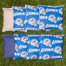 Cornhole Bean Bags Set of 8 ACA Regulation Bags Detroit Lions Free Shipping