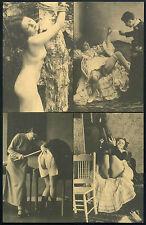 4 x FOTO CARTOLINA - DONNA NACKT- ATTO RITRATTO RAGAZZA - NUDO EROTICO - VINTAGE