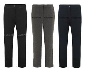 Ladies Women Adjustable Waist Smart Fit Trouser Pant UK Made Inside Leg-31''