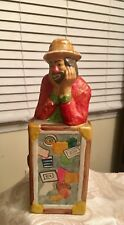Vtg Flambro Porcelain Hobo Circus Clown With Suitcase Emmett Kelly Jr Collection