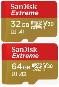 Sandisk Extreme 32GB 64GB Micro SD XC U3 4K Card For GoPro Hero 9 8 7 6 5 4 MAX