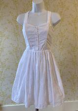 Vestido De Verano Jack Wills Blanco Estcourt en Encaje Corpiño UK 8 bolsillos Falda Completa,