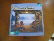 """Buffalo Games Darrell Bush """"Opening Day"""" 1000 piece puzzle with poster"""