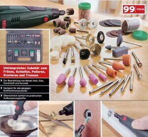 Zubehör für Mini Schleifer, Multischleifer, Dremel 99-tlg Werkzeugsatz im Koffer