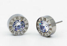 Par de Pendientes de acero inoxidable Punto De Luz 6mm Circonitas Brillantes