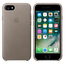 Original Apple Case iPhone 7 / 8 Leder Handy Schutz Hülle Cover OVP Taupe Grau