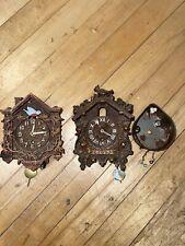 Two Lux Pendulette Cuckoo Clocks.