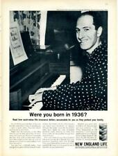 1962 New England Life PRINT AD Insurance features George Gershwin 1936 photo